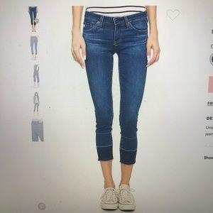 AG Stilt Crop Cigarette Jeans